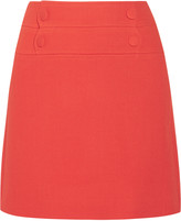 Paul & Joe Lyoka wool-blend crepe mini skirt