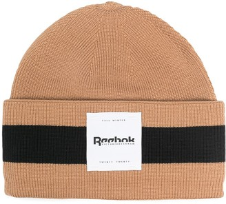 Reebok x Victoria Beckham Striped Soft Knit Beanie