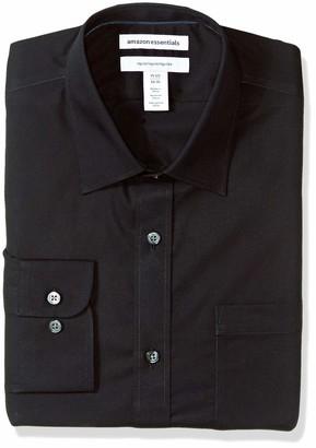 Essentials Regular-fit Wrinkle-Resistant Long-Sleeve Plaid Dress Shirt Homme