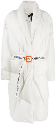 KHRISJOY Contrast-Belt Puffer Jacket