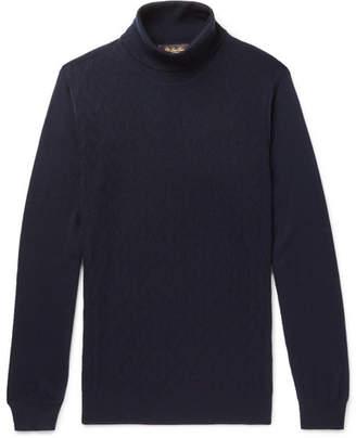 Loro Piana Slim-Fit Herringbone Cashmere Rollneck Sweater