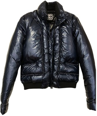 Chanel Blue Cotton Leather jackets