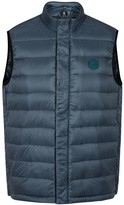 Ps By Paul Smith Blue Quilted Shell Gilet