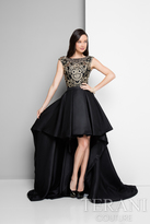 Terani Prom - Dimensional Hi-low Gown with Train 1712P2538