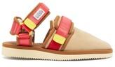 Suicoke Nots-mab Suede Closed-toe Sandals - Womens - Tan Multi