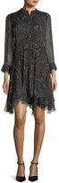 Zadig & Voltaire Ranil Semisheer Printed Chiffon Dress