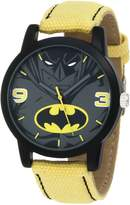 Batman Kids' BAT9043 Yellow Canvas Strap Watch