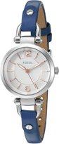 Fossil Women's ES4001 Georgia Mini Indigo-Dyed Leather Watch