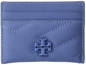 Tory Burch Kira Chevron Matte Card Case (Bluewood) Handbags