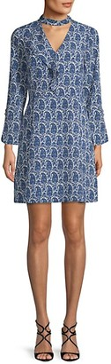 Derek Lam 10 Crosby Paisley-Print Mini Dress