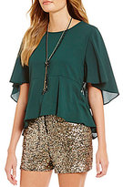 GB Flutter Sleeve Blouse