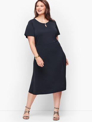 Talbots Knit Jersey Fit & Flare Dress