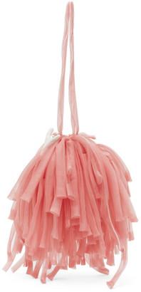 Paula Canovas Del Vas Pink Organza Mini Fringe Bag