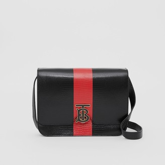 Burberry Medium Striped Embossed Leather TB Bag