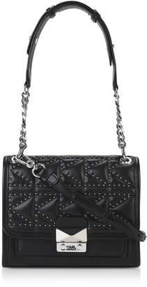 Karl Lagerfeld Paris K/kuilted Studs Small Shoulder Bag