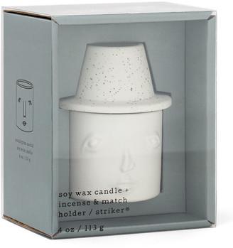 Paddywax 4 oz. Eucalyptus + Santal Cleo Persona Candle and Match Striker Set