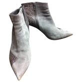 Chloé Grey Leather Ankle boots