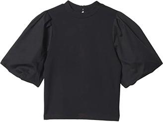 Habitual Lyla Oversized Puff Sleeve Top (Big Kids) (Black) Girl's Clothing