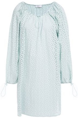 Marysia Swim Off-the-shoulder Broderie Anglaise Cotton Coverup
