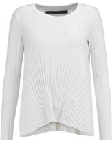 Enza Costa Ribbed-Knit Cotton And Cashmere-Blend Top