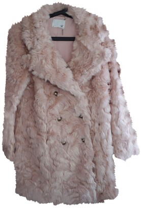 Supertrash Pink Faux fur Coat for Women