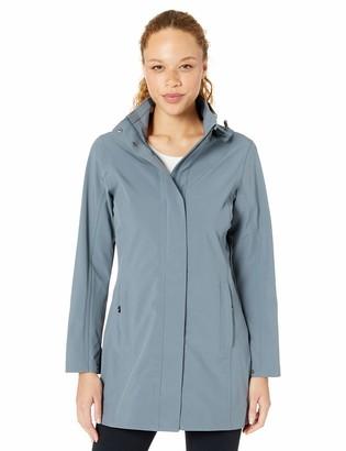 Cutter & Buck Women's ld Hooded Shell Waterproof and Wind Resistant Long Jacket