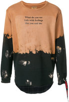 Sold Out Frvr painted look print sweatshirt