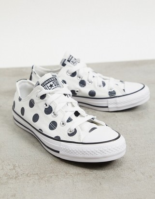 Converse Chuck Taylor ox polka dot trainer in white