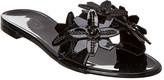 Tod's Floral Leather Slide