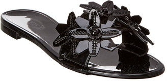 Tod's Floral Leather Sandal