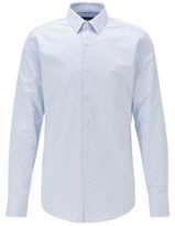 HUGO BOSS - Slim Fit Shirt In Fil Coupe Cotton - Light Blue