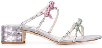 Rene Caovilla Caterina crystal-embellished 40mm sandals