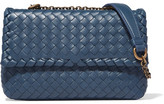 Bottega Veneta Olimpia Baby Intrecciato Leather Shoulder Bag - Blue