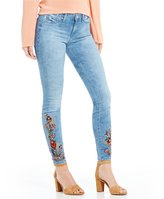 Jessica Simpson Kiss Me Embroidered Super Skinny Jeans