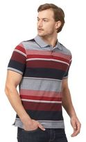 Maine New England Navy And Red Striped Tailored Polo Shirt