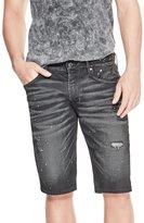 GUESS Men's Paint Splatter Denim Shorts