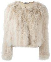 Givenchy short turkey feather jacket