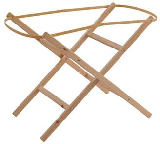 Clair De Lune Ready Assembled Wooden Folding Moses Basket Stand (Natural)