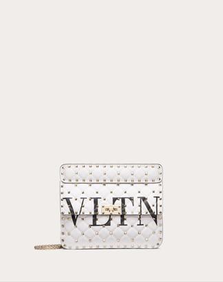 Valentino Medium Rockstud Spike.it Vltn Bag Women White 100% Lambskin OneSize