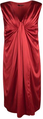 HUGO BOSS Boss by Red Sleeveless Draped Doresa Dress S