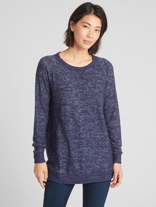 Gap Maternity Marled Nursing Pullover Sweatshirt