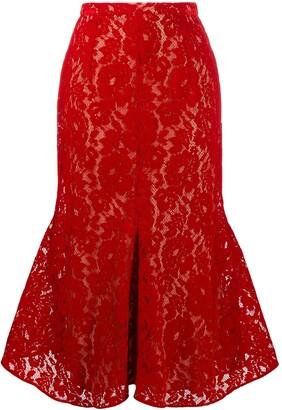 Christopher Kane Flock Lace Bell Skirt