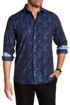 Robert Graham Hiddenview Short Sleeve Classic Fit Print Woven Shirt