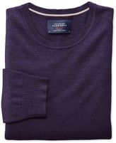 Charles Tyrwhitt Purple Merino Wool Crew Neck Sweater Size Large