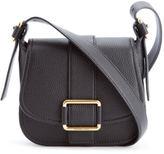 MICHAEL Michael Kors Women's Maxine Mid Saddle Bag Black