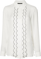 Jenni Kayne piped frill shirt - women - Silk - XS