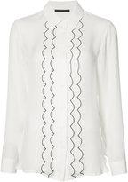 Jenni Kayne piped frill shirt - women - Silk - XS