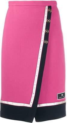 Elisabetta Franchi high-waisted wrap skirt