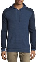 John Varvatos Saddle-Shoulder Cotton-Wool Hoodie