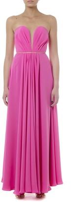 Rhea Costa Long Stretchy Fuxia Heart Shape Dress